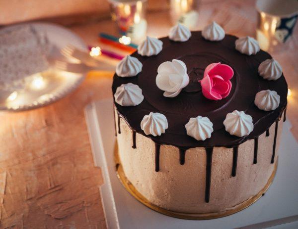 Drip cake vanille chocolat